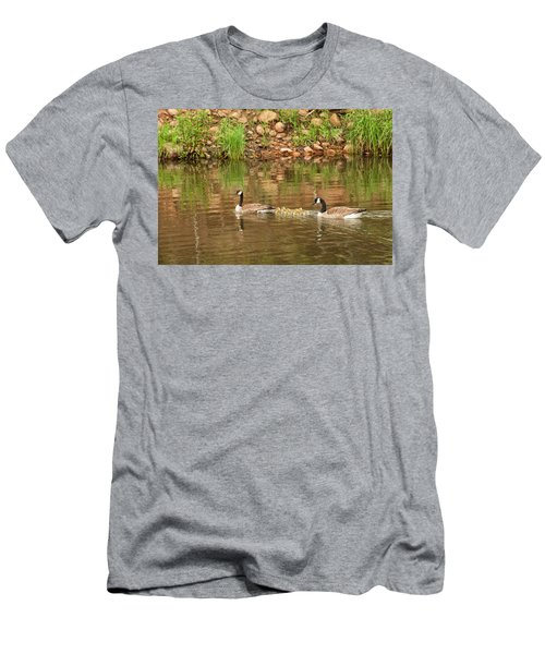 Family Of Geese Men's T-Shirt (Athletic Fit)