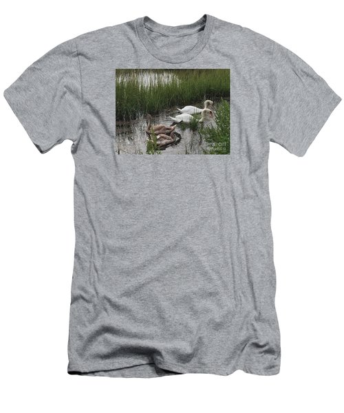 Family Time Men's T-Shirt (Slim Fit) by Beth Saffer