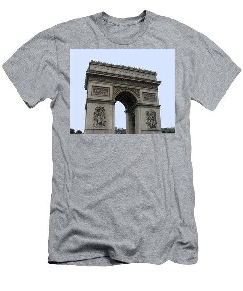 Men's T-Shirt (Slim Fit) featuring the photograph Famous Gate Of Paris - Arc De France by Suhas Tavkar