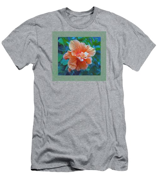 Fancy Peach Hibiscus Men's T-Shirt (Athletic Fit)