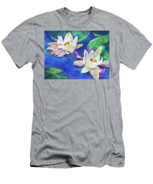 Fancy Waterlilies Men's T-Shirt (Slim Fit) by Kathy Braud