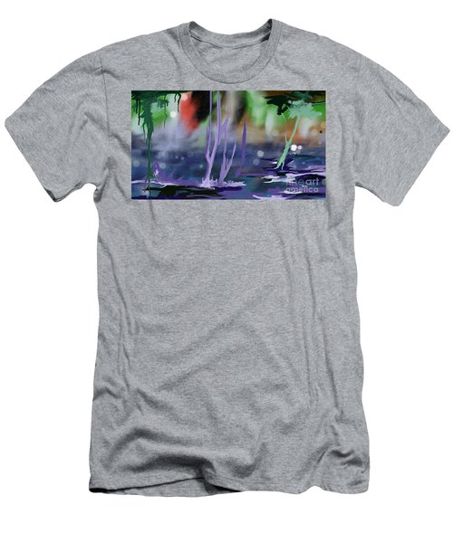 Men's T-Shirt (Slim Fit) featuring the painting Fantasy With A Touch Of Reality by Rushan Ruzaick