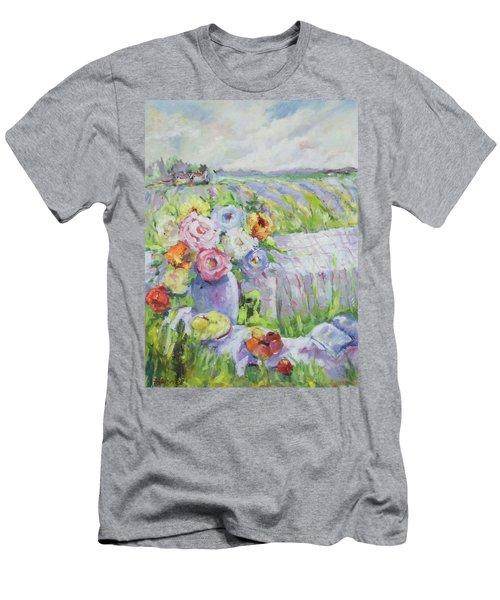 Far Away Men's T-Shirt (Slim Fit) by Sharon Furner