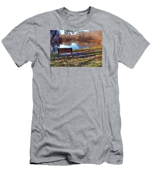 Men's T-Shirt (Slim Fit) featuring the photograph Farewell Fishing by Betsy Zimmerli