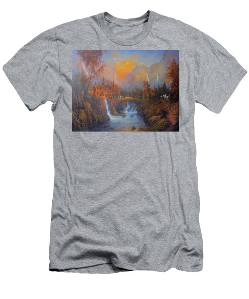Farewell To Rivendell The Passing Of The Elves Men's T-Shirt (Slim Fit) by Joe  Gilronan