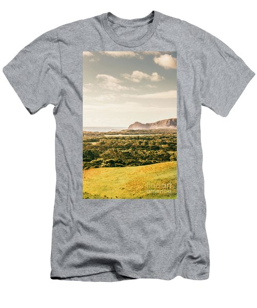 Farm Fields To Seaside Shores Men's T-Shirt (Athletic Fit)