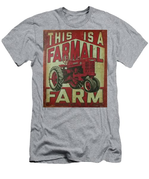 Men's T-Shirt (Athletic Fit) featuring the photograph Farmall Farm Sign by Chris Flees