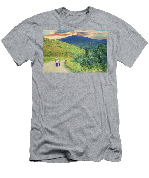 Father And Children Walking Together Men's T-Shirt (Athletic Fit)