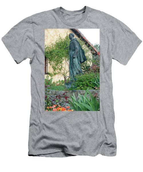 Father Junipero Serra Statue At Mission Carmel Men's T-Shirt (Athletic Fit)