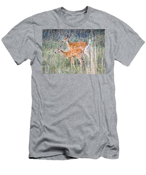 Fawns At Bigfork Men's T-Shirt (Athletic Fit)