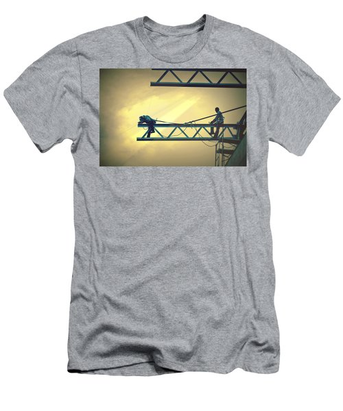 Fearless Sky Workers Men's T-Shirt (Athletic Fit)