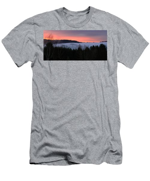 February Oregon Sunrise Men's T-Shirt (Slim Fit) by Katie Wing Vigil