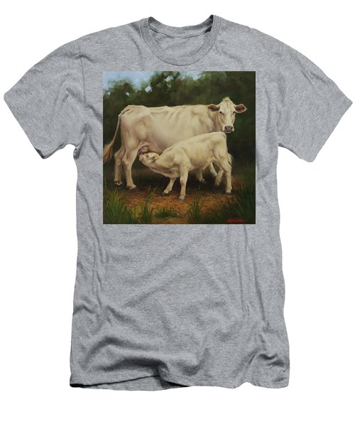 Feeding In The Forest Men's T-Shirt (Slim Fit)