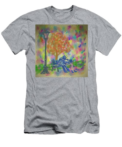 Men's T-Shirt (Slim Fit) featuring the painting Feeding The Birds by Kevin Caudill