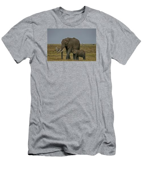 Men's T-Shirt (Slim Fit) featuring the photograph Feeding Time by Gary Hall