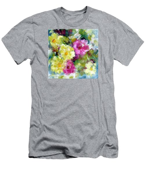 Men's T-Shirt (Slim Fit) featuring the painting Felicidades by Katie Black