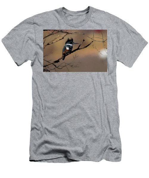 Female Belted Kingfisher Men's T-Shirt (Slim Fit) by Ernie Echols