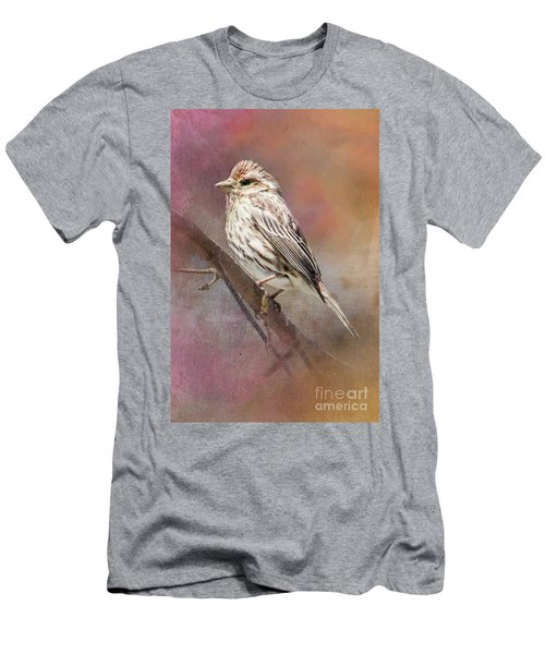 Female Sparrow On Branch Ginkelmier Inspired Men's T-Shirt (Athletic Fit)