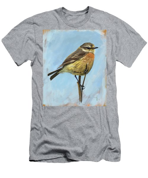 Female Stonechat Men's T-Shirt (Athletic Fit)