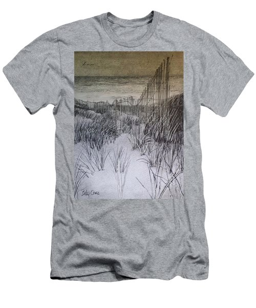 Fence In The Dunes Men's T-Shirt (Athletic Fit)