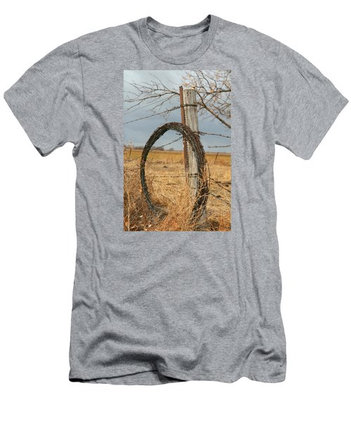 Fencing With My Dad Men's T-Shirt (Slim Fit) by Shirley Heier