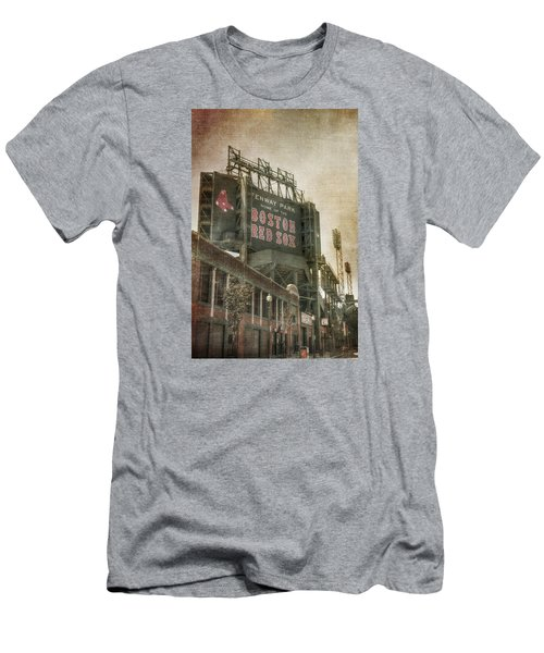 Fenway Park Billboard - Boston Red Sox Men's T-Shirt (Slim Fit) by Joann Vitali