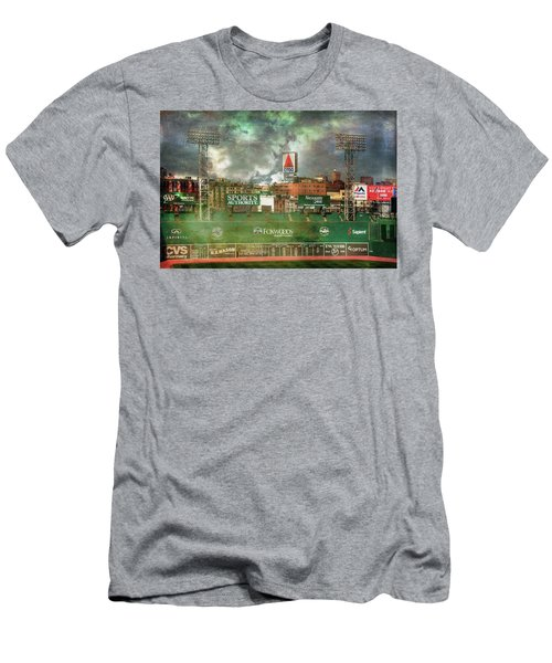 Men's T-Shirt (Athletic Fit) featuring the photograph Fenway Park Green Monster And Citgo Sign by Joann Vitali