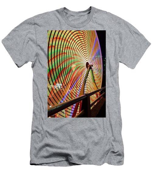 Ferris Wheel  Closeup Night Long Exposure Men's T-Shirt (Athletic Fit)