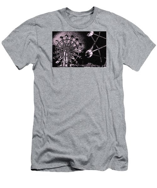 Ferris Wheel Men's T-Shirt (Slim Fit) by Donna G Smith