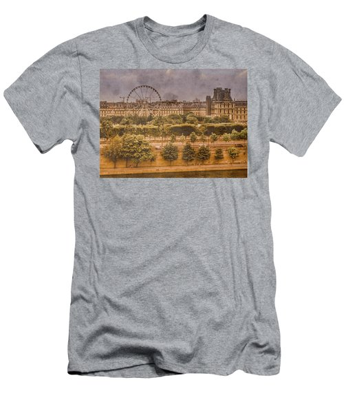 Paris, France - Ferris Wheel Men's T-Shirt (Athletic Fit)
