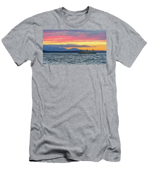 Ferry In Puget Sound Men's T-Shirt (Athletic Fit)