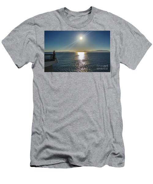 Men's T-Shirt (Slim Fit) featuring the photograph Ferry To The San Juan's by William Wyckoff
