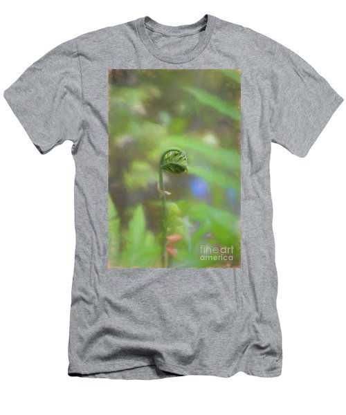 Fiddlehead Fern - Macro Men's T-Shirt (Athletic Fit)