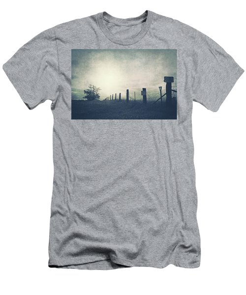Field Beyond The Fence Men's T-Shirt (Athletic Fit)