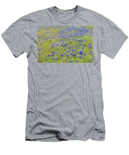 Field Of Blue Bonnet Flowers Men's T-Shirt (Athletic Fit)