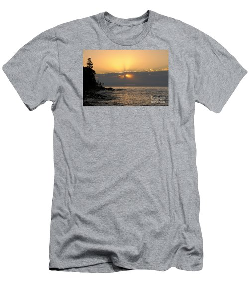 Men's T-Shirt (Slim Fit) featuring the photograph Fiery Eyes by Sandra Updyke