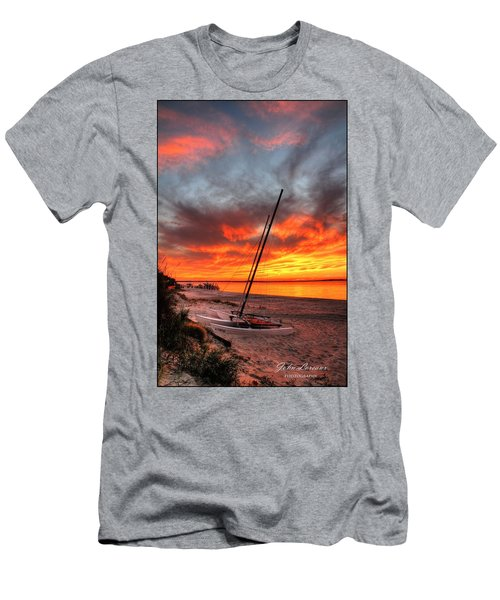 Fiery Sunset Men's T-Shirt (Athletic Fit)