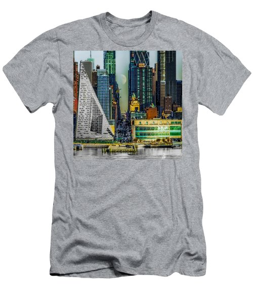 Men's T-Shirt (Athletic Fit) featuring the photograph Fifty-seventh Street Fantasy by Chris Lord
