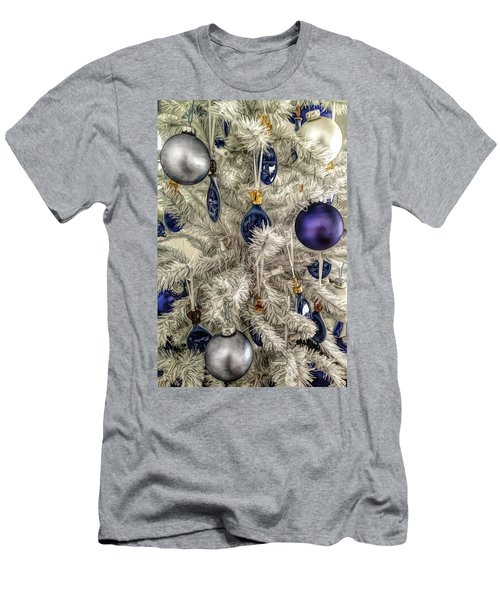 Men's T-Shirt (Athletic Fit) featuring the photograph Fine Wine Cafe Christmas Tree Ornaments by Aimee L Maher Photography and Art Visit ALMGallerydotcom