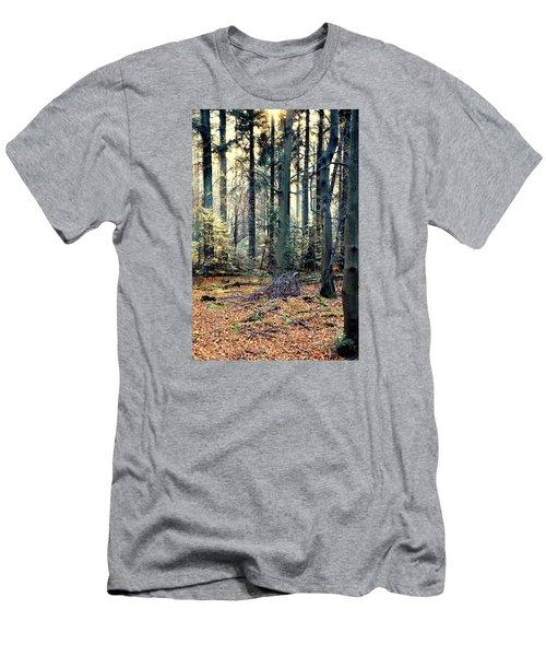 Fir Forest-2 Men's T-Shirt (Slim Fit) by Henryk Gorecki
