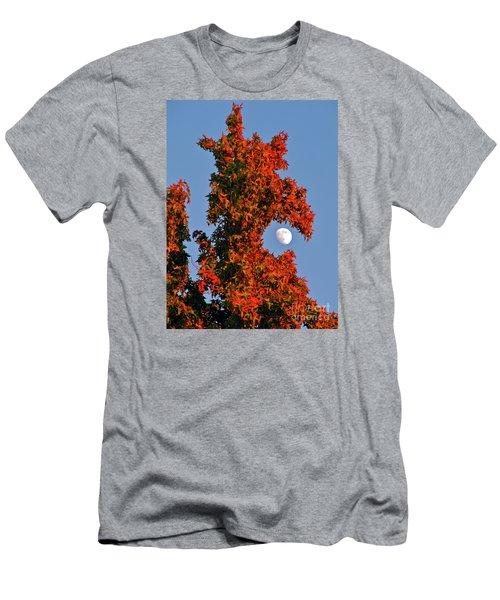 Fire Dragon Tree Eats Moon Men's T-Shirt (Athletic Fit)