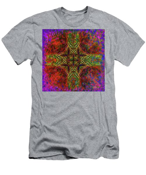 Fire Fractals Abstraction Men's T-Shirt (Athletic Fit)