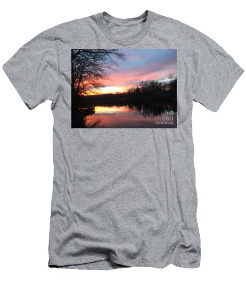 Fire On The Water Men's T-Shirt (Slim Fit) by Jason Nicholas