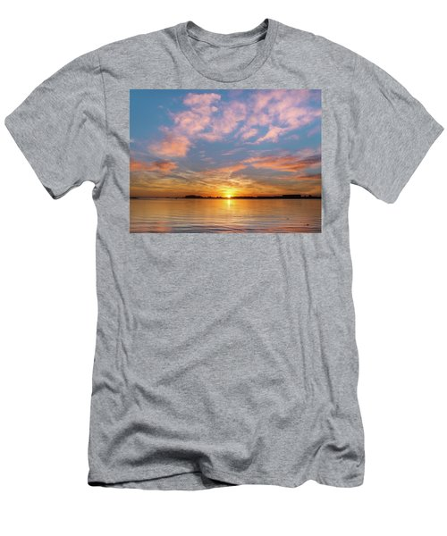 Fire Sunset On Humboldt Bay Men's T-Shirt (Slim Fit) by Greg Nyquist