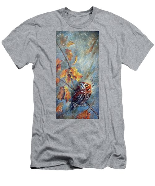 Men's T-Shirt (Slim Fit) featuring the painting First Flurries by Mary McCullah