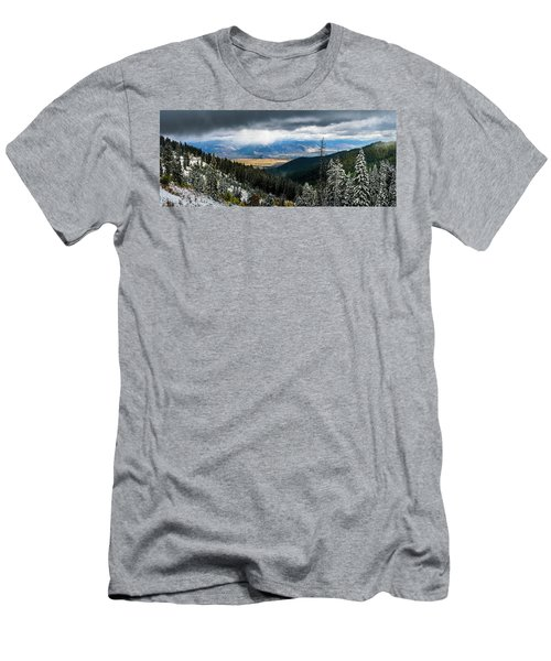 First Snow, Jackson From Teton Pass Men's T-Shirt (Athletic Fit)