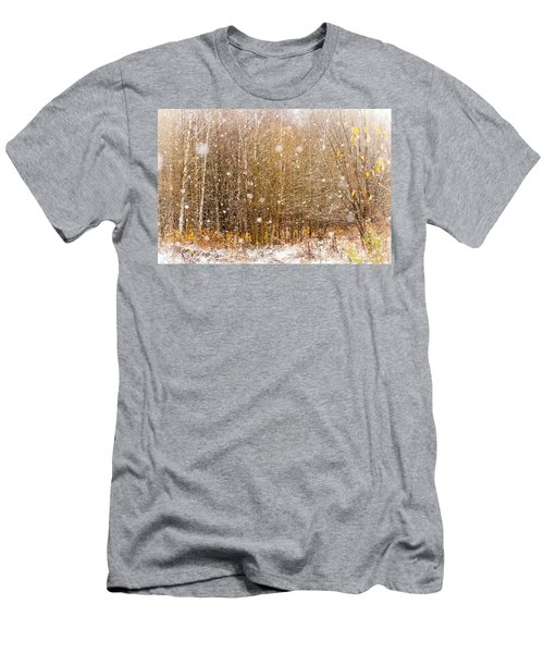 First Snow. Snow Flakes I Men's T-Shirt (Athletic Fit)