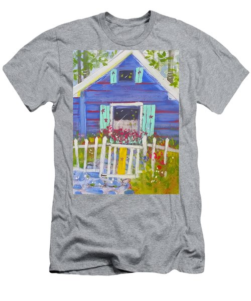 Fish Camp Cottage Men's T-Shirt (Athletic Fit)