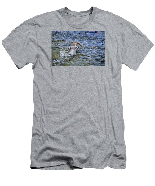 Men's T-Shirt (Slim Fit) featuring the photograph Fish Gulp by David Lawson