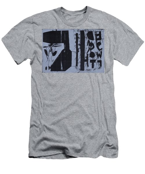 Fisher Covers Reverse White On Black Men's T-Shirt (Athletic Fit)